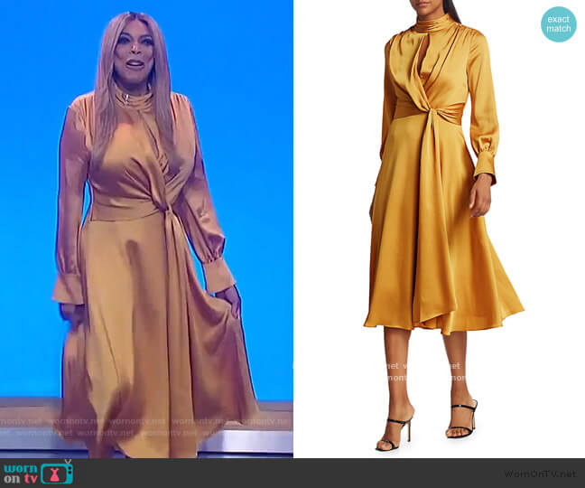 Fluid Satin Midi Dress by Jonathan Simkhai worn by Wendy Williams  on The Wendy Williams Show