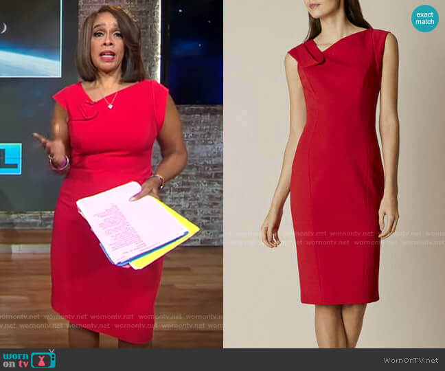 Fold-Detail Pencil Dress by Karen Millen worn by Gayle King  on CBS This Morning