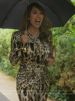 Kelly's leopard print mini dress on The Real Housewives of Orange County
