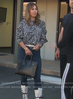 Kelly's leopard print blouse on The Real Housewives of Orange County