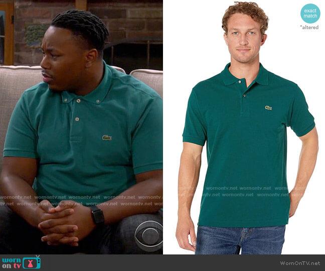 Lacoste Beeche Polo Shirt worn by Marty (Marcel Spears) on The Neighborhood