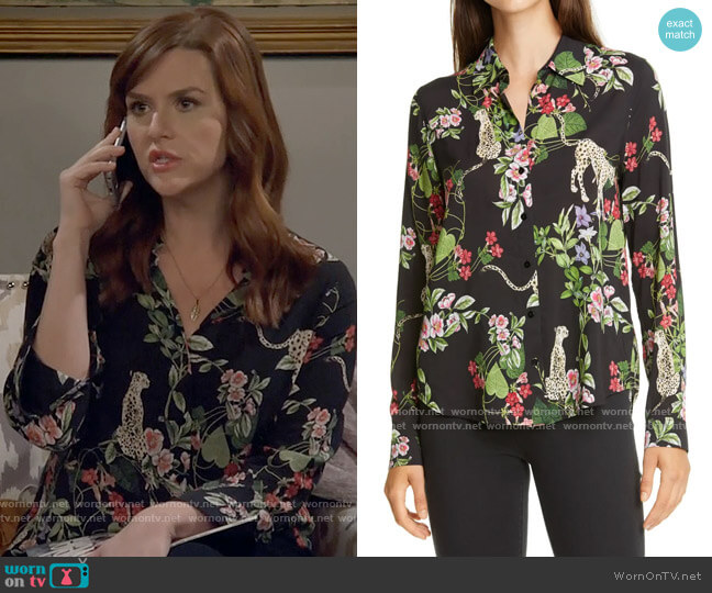 L'Agence Holly Blouse worn by Julia (Sara Rue) on B Positive