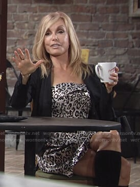 Lauren's leopard print dress on The Young and the Restless