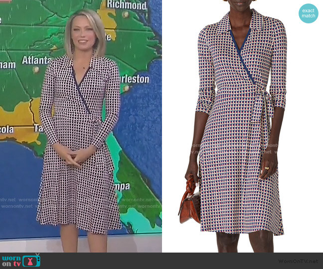 Dr Nora Wrap Dress by LK Bennett worn by Dylan Dreyer  on Today