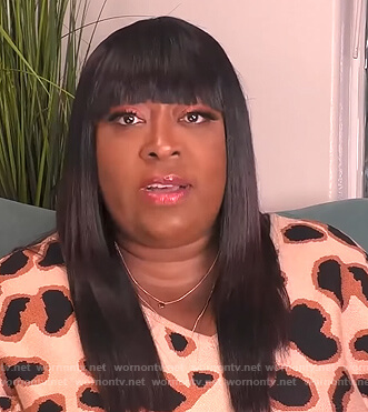 Loni's leopard print sweater dress on The Real