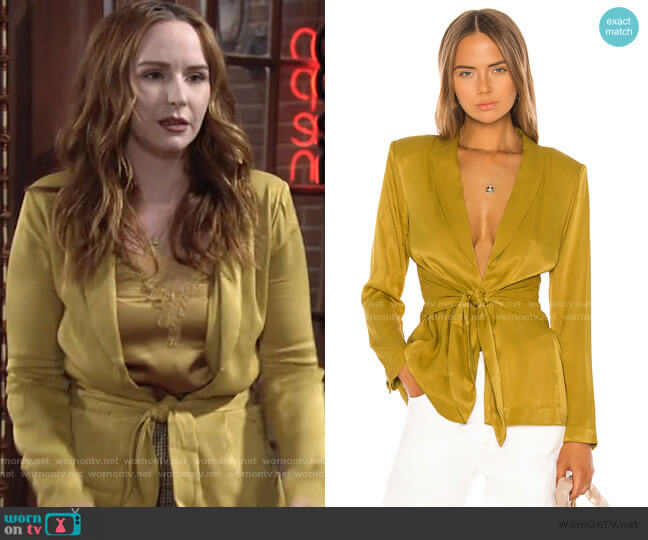Marisa Jacket by LPA worn by Mariah Copeland (Camryn Grimes) on The Young & the Restless