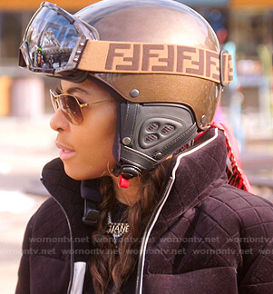 Mary's Fendi ski helmet and goggles on The Real Housewives of Salt Lake City