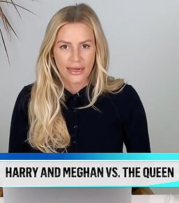 Morgan's navy ribbed polo sweater on E! News Daily Pop
