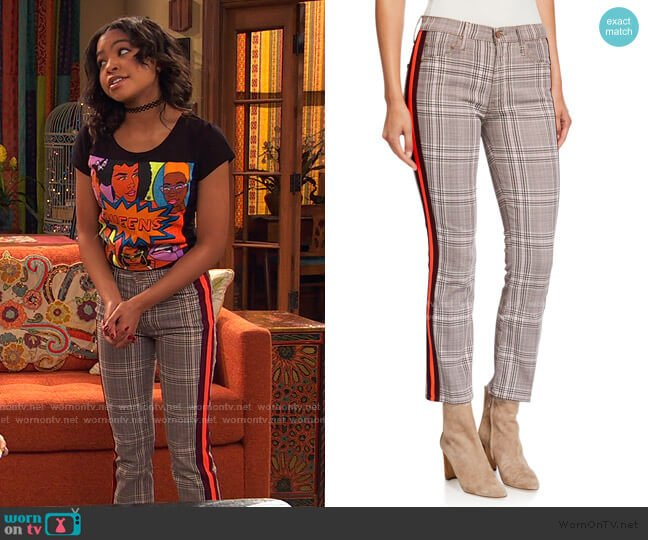 The Insider Ankle Straight-Leg Pants by Mother worn by Nia Baxter (Navia Robinson) on Ravens Home