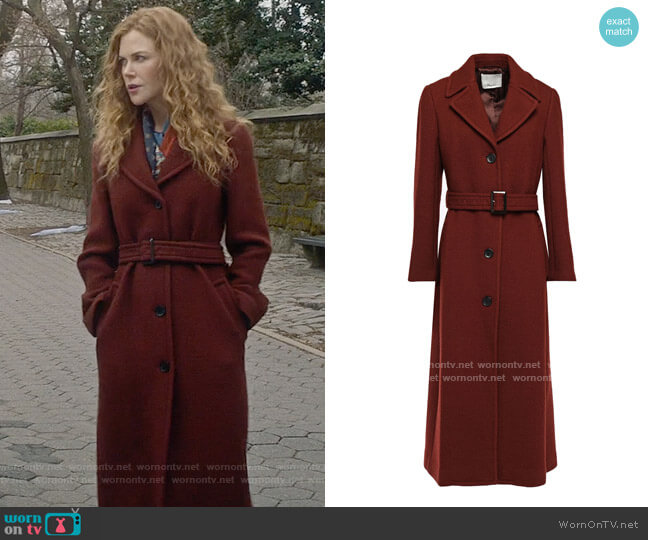 3.1 Phillp Lim Tailored Belted Coat worn by Grace Fraser (Nicole Kidman) on The Undoing