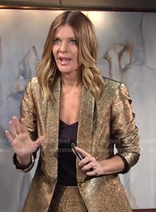 Phyllis's metallic gold suit on The Young and the Restless