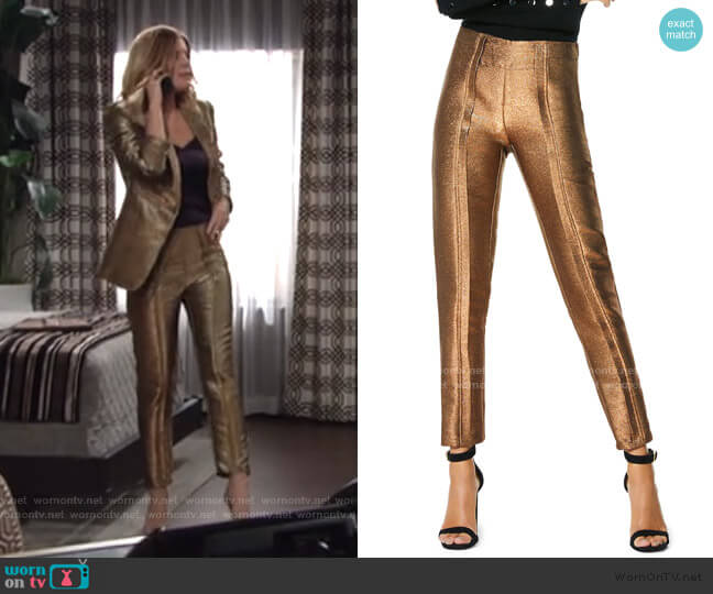 Lucinda Metallic Skinny Pants by Ramy Brook worn by Phyllis Summers (Michelle Stafford) on The Young & the Restless