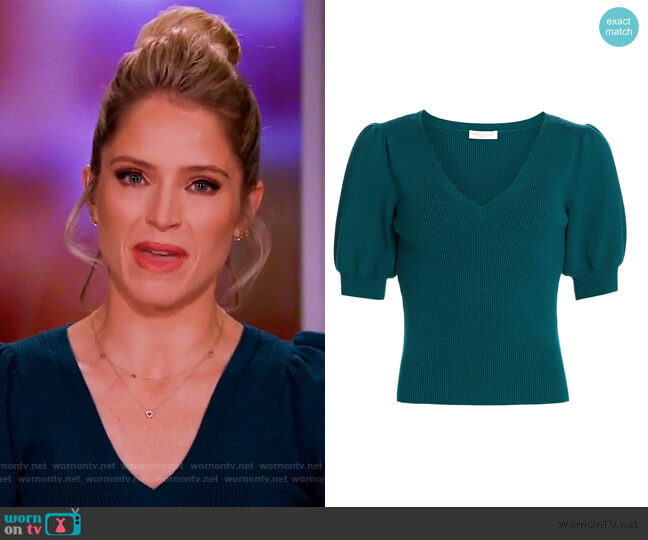 Rory Puff-Sleeve Sweater by Ramy Brook worn by Sara Haines  on The View