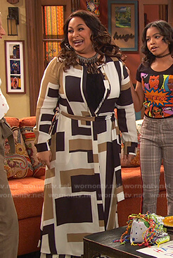 Raven's geometric print shirtdress on Ravens Home