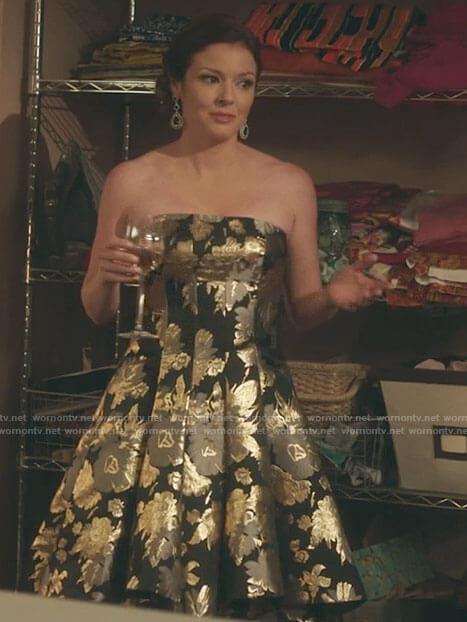 Ginger's rainbow sequin blazer dress on Filthy Rich