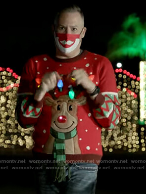 Ross Matthew's red led christmas sweater