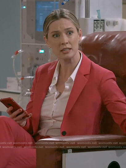 Samantha's pink suit on B Positive