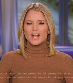 Sara's brown turtleneck sweater on The View