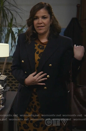Sara's navy double breasted blazer on All Rise