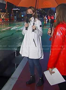 Savannah's white raincoat on Today