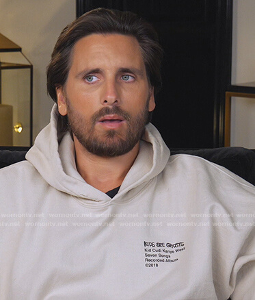 Scott Disick's Ghosts Hoodie on Keeping Up with the Kardashians