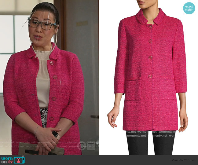 Andrea Knit Jacket by St. John worn by Sherri Kansky (Ruthie Ann Miles) on All Rise