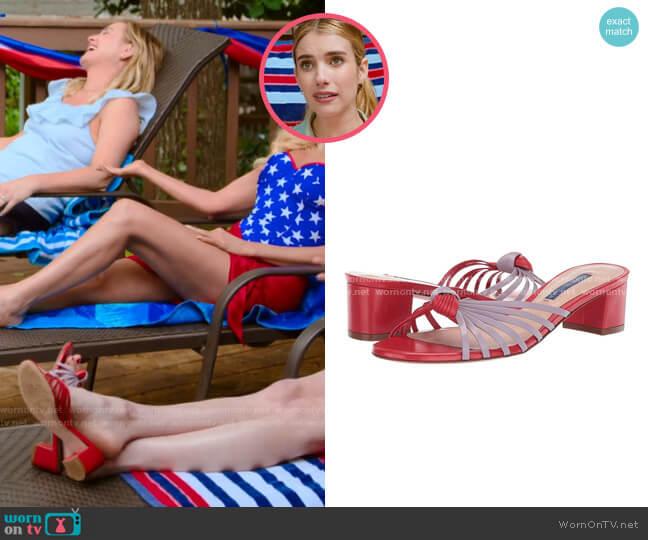Stuart Weitzman Sidney Sandals worn by Sloan (Emma Roberts) on Holidate (2020)