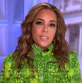 Sunny's green floral blouse on The View