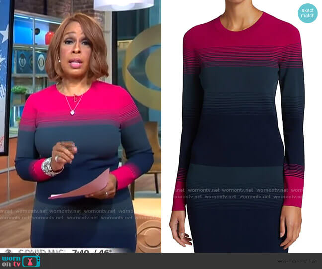 Ombre Long-Sleeve Sweater by Tanya Taylor worn by Gayle King  on CBS This Morning