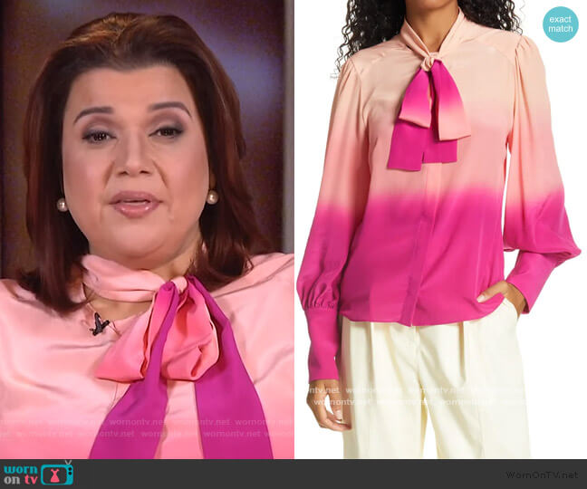 Susan Top by Tanya Taylor worn by Ana Navarro  on The View