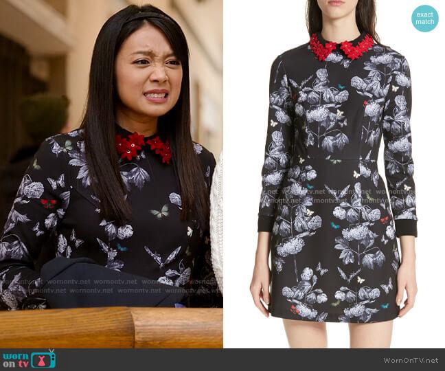 Ted Baker Amaliia Narrnia Dress worn by Liz (Cynthy Wu) on Holidate (2020)