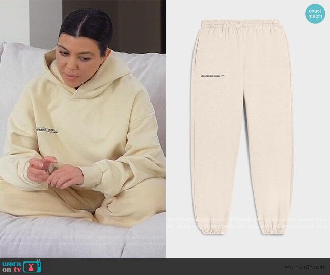 Lightweight Recycled Cotton Track Pants The Pangaia worn by Kourtney Kardashian  on Keeping Up with the Kardashians