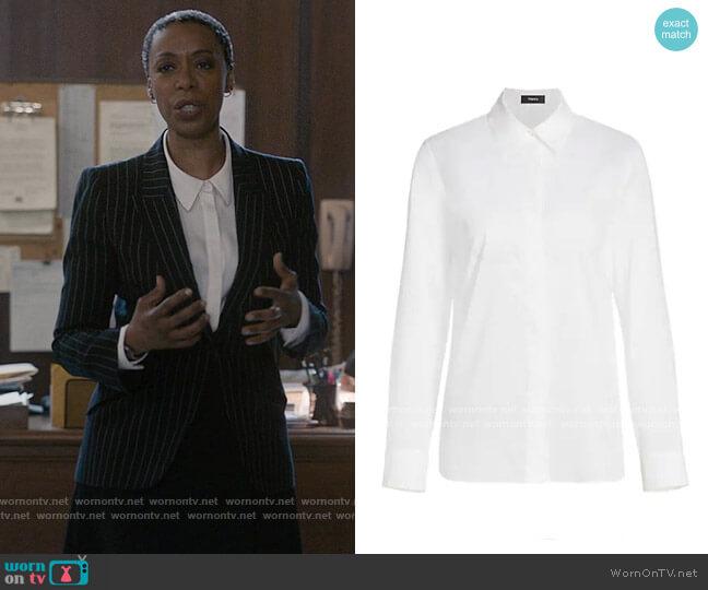 Theory Classic Straight Shirt worn by Haley Fitzgerald (Noma Dumezweni) on The Undoing