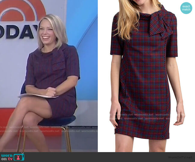 Delilah Roll-Neck Dress by Trina Turk worn by Dylan Dreyer  on Today