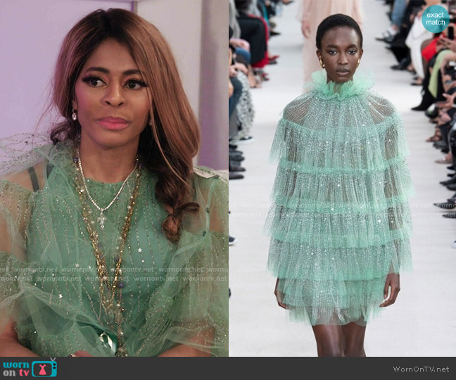 Spring 2019 Collection by Valentino worn by Mary Cosby  on The Real Housewives of Salt Lake City