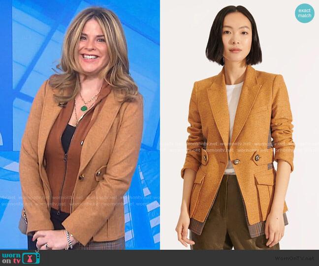 Aitana Dickey Jacket by Veronica Beard worn by Jenna Bush Hager  on Today