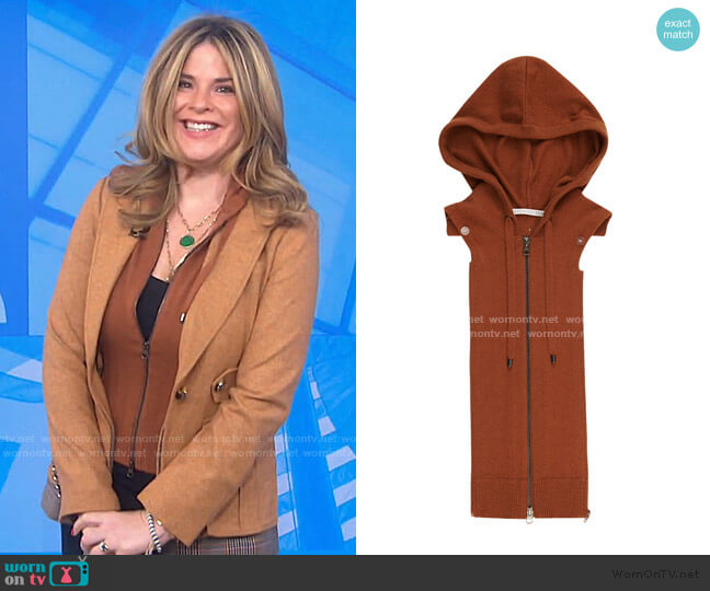 Wool & Cashmere Hoodie Dickey by Veronica Beard worn by Jenna Bush Hager  on Today