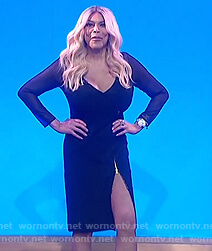 Wendy's black zip front dress on The Wendy Williams Show