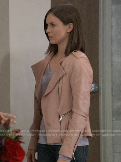 Willow's pink leather jacket on General Hospital