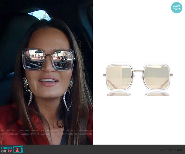 Mirror Square Sunglasses by Chanel worn by Lisa Barlow  on The Real Housewives of Salt Lake City