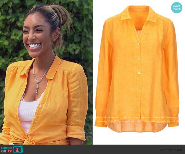 Linen Shirt by 120% worn by Tayshia Adams  on The Bachelorette