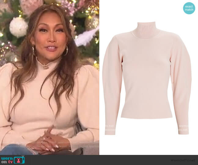 Samuel Puff-Sleeve Turtleneck Sweater by A.L.C worn by Carrie Inaba  on The Talk