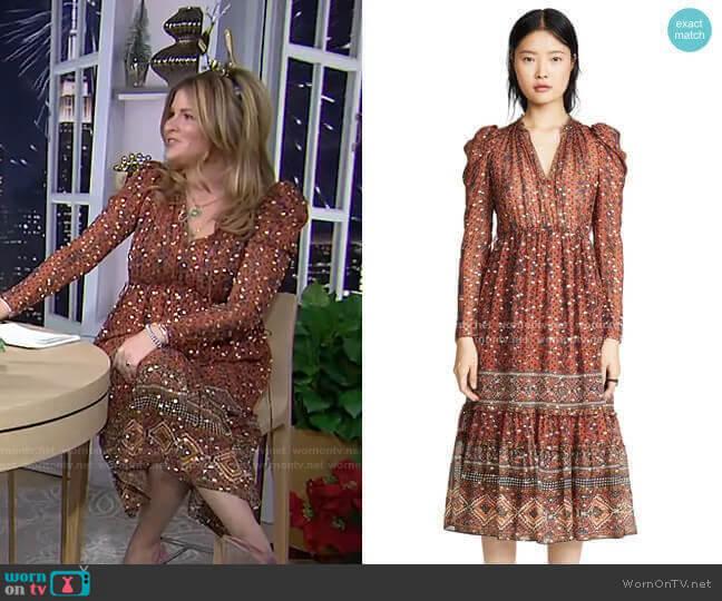 Alessandra Dress by Ulla Johnson worn by Jenna Bush Hager  on Today