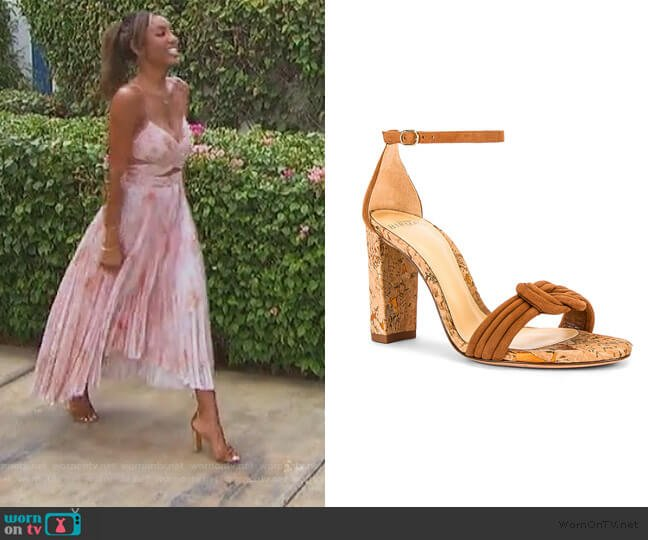 Chiara Heel by Alexandre Birman worn by Tayshia Adams  on The Bachelorette