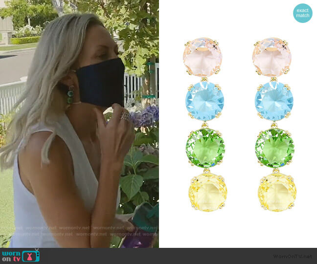 Rainbow Crystal Earrings by Amber Sceats worn by Braunwyn Windham-Burke  on The Real Housewives of Orange County