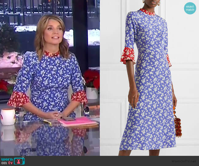 Ashley Midi Dress by HVN worn by Savannah Guthrie  on Today