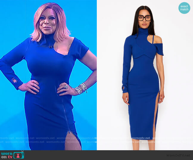 Bralette Asymmetric Midi Dress by BBX Brand worn by Wendy Williams  on The Wendy Williams Show