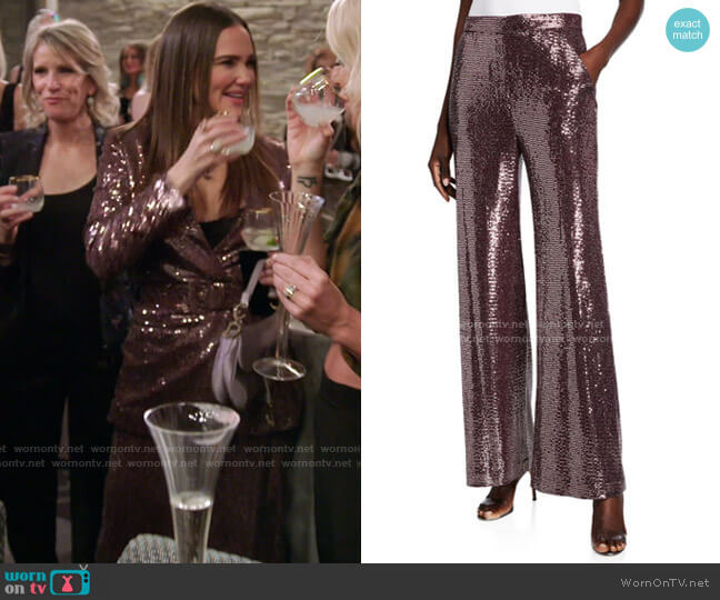Sequin Pants by Badgley Mischka Collection worn by Meredith Marks  on The Real Housewives of Salt Lake City