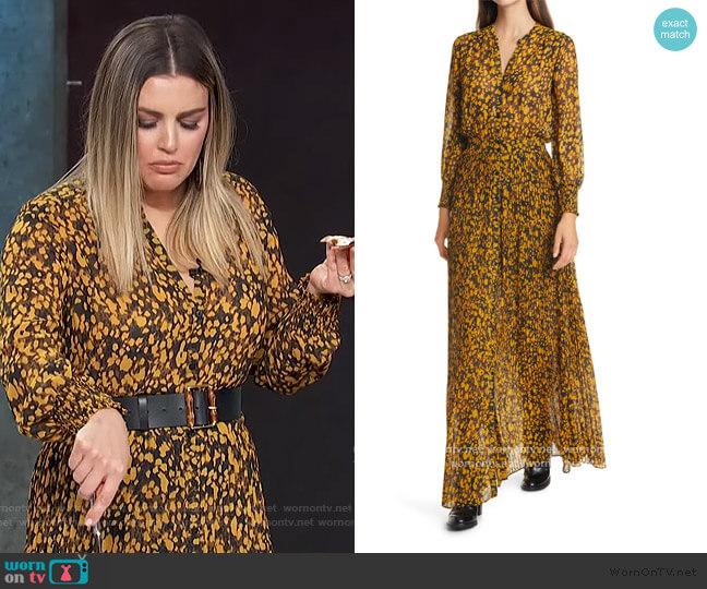 Lisi Print Long Sleeve Shirtdress by Ba&sh worn by Carissa Loethen Culiner  on E! News