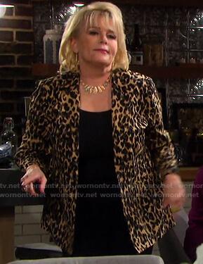 Bonnie's leopard print blazer on Days of our Lives